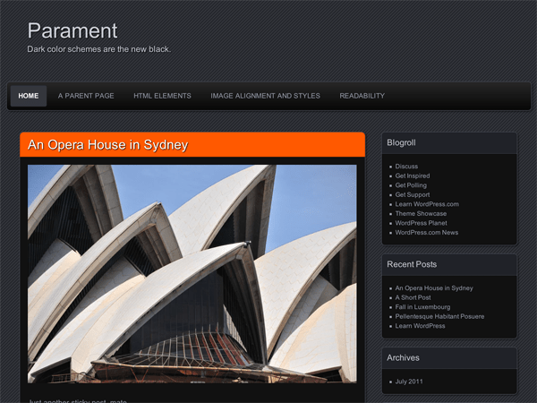 Parament free wordpress theme
