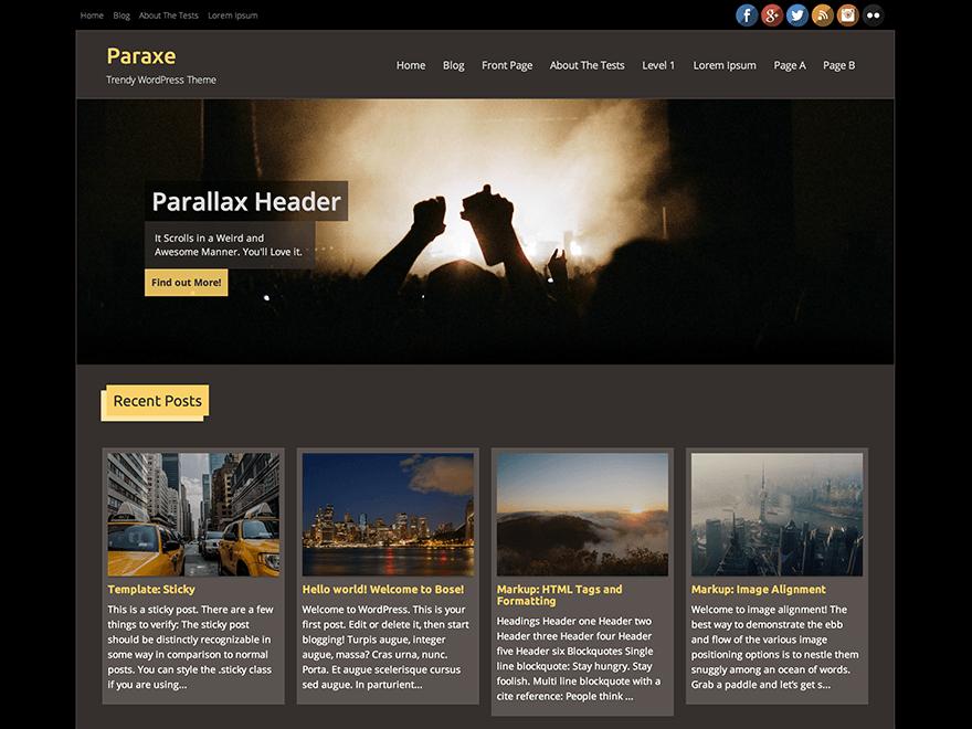 Paraxe theme wordpress gratuit