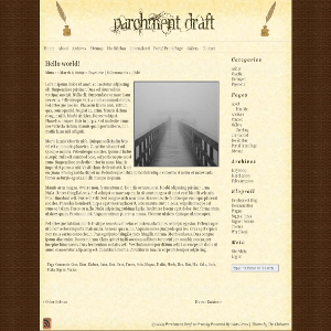 Parchment Draft free wordpress theme