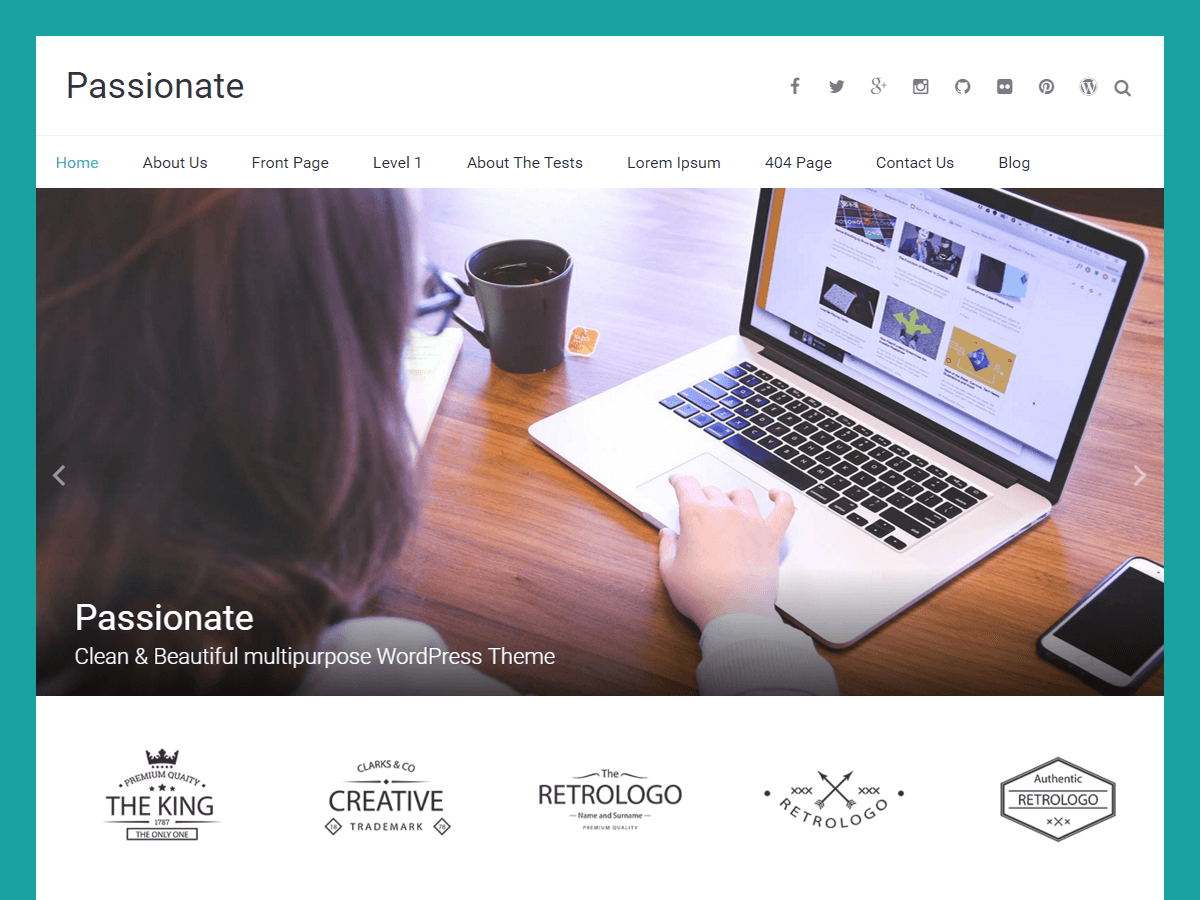 Passionate free wordpress theme