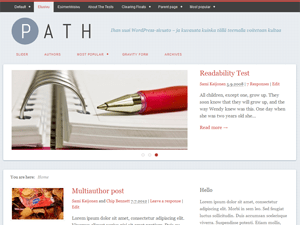 Path free wordpress theme