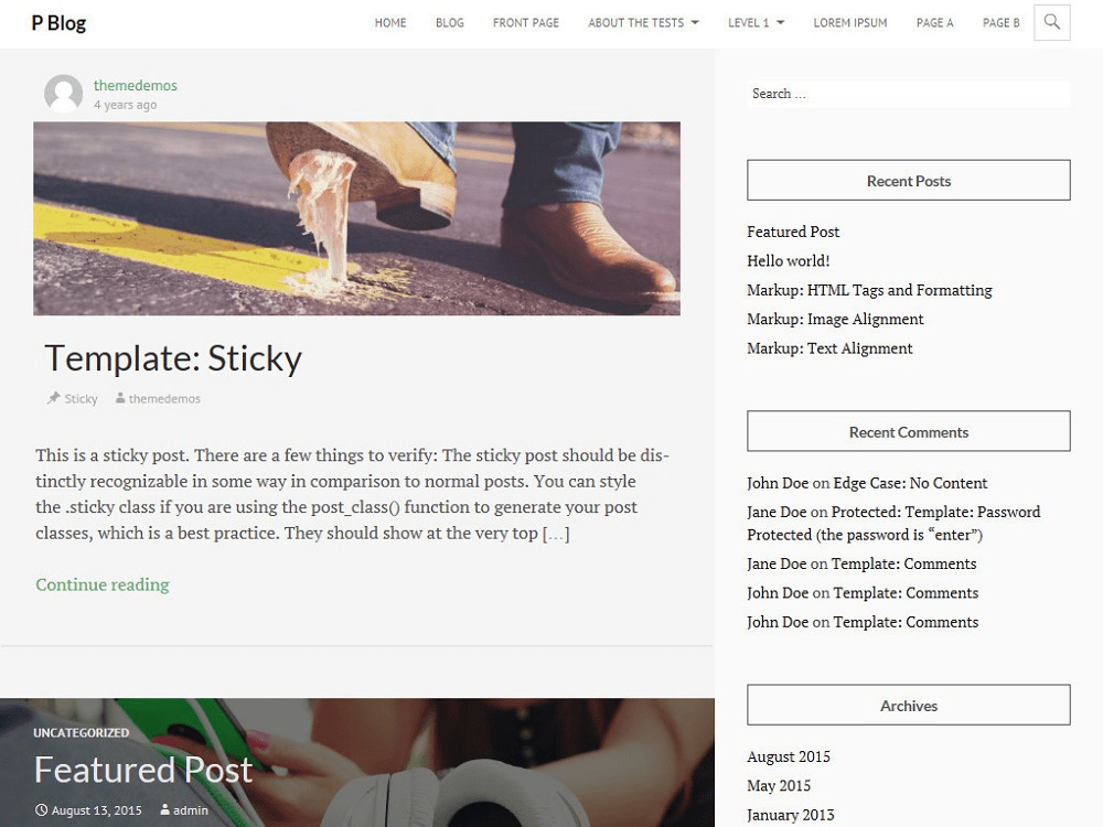PBlog free wordpress theme