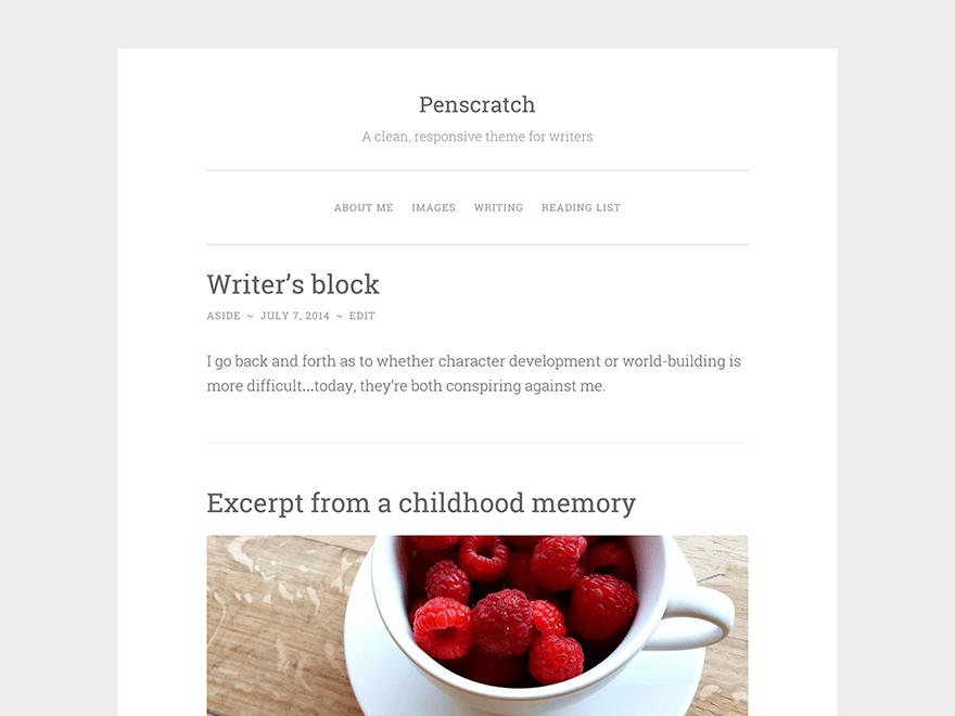 Penscratch free wordpress theme