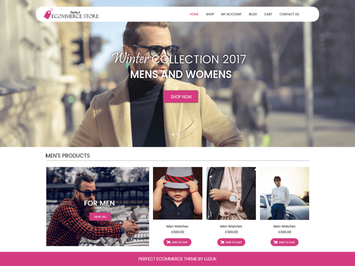 Perfect Ecommerce Store Theme Free Download