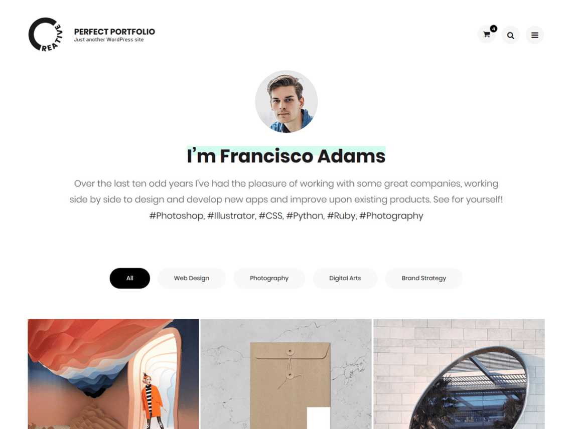 Perfect Portfolio Free WordPress Theme