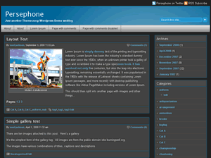 Persephone free wordpress theme