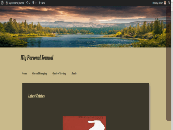 Personal Journal wordpress theme