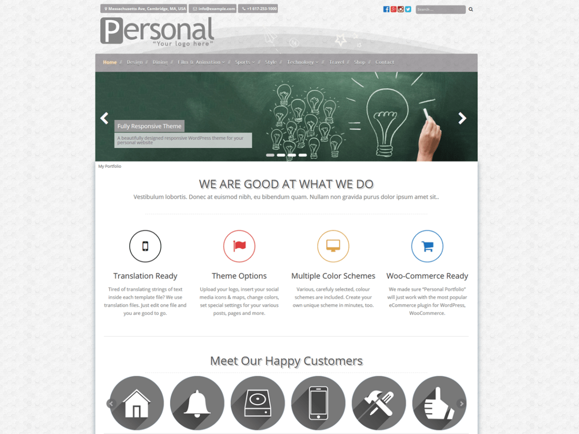 Personal Portfolio Theme Free Download
