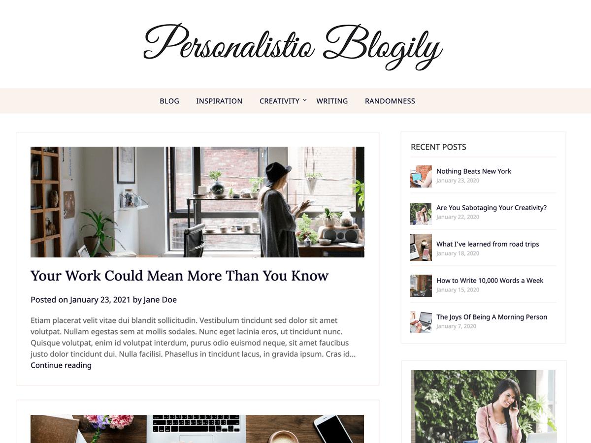 WordPress主题:Personalistio Blog