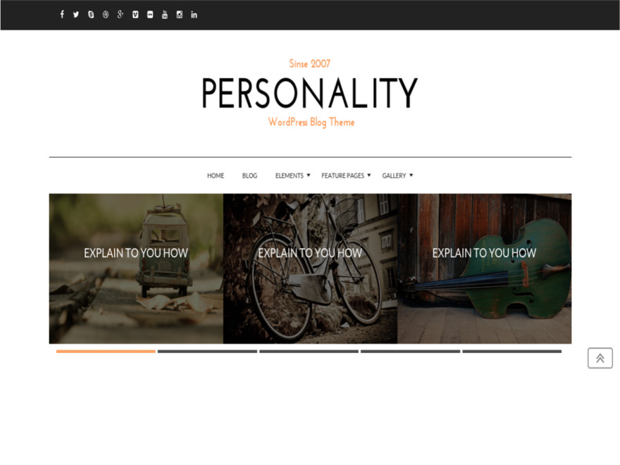 Personality free wordpress theme