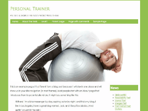 PersonalTrainer free wordpress theme