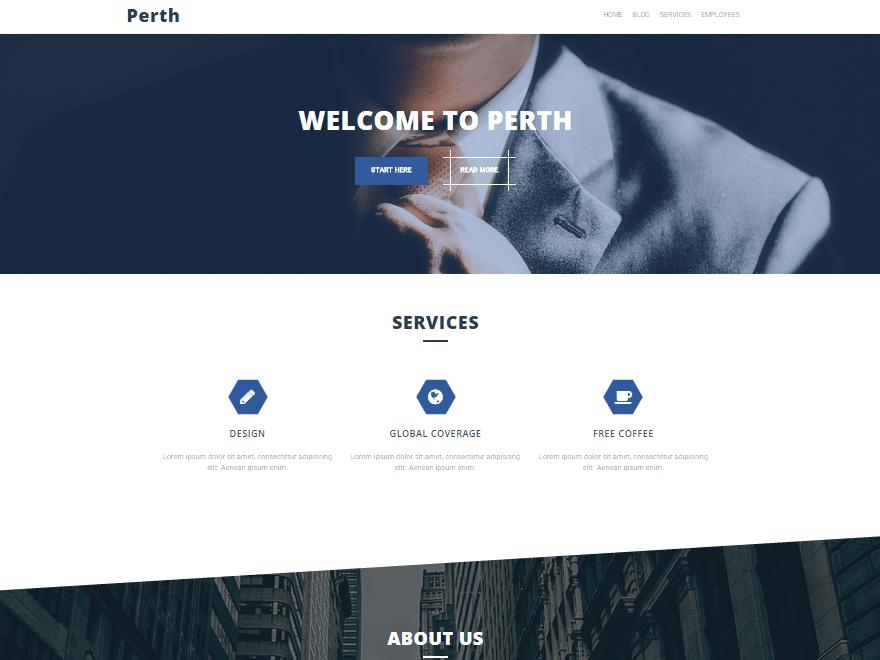 Perth free wordpress theme