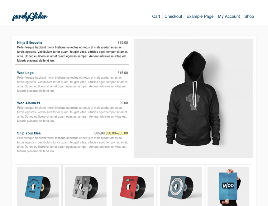 pGlider free wordpress theme