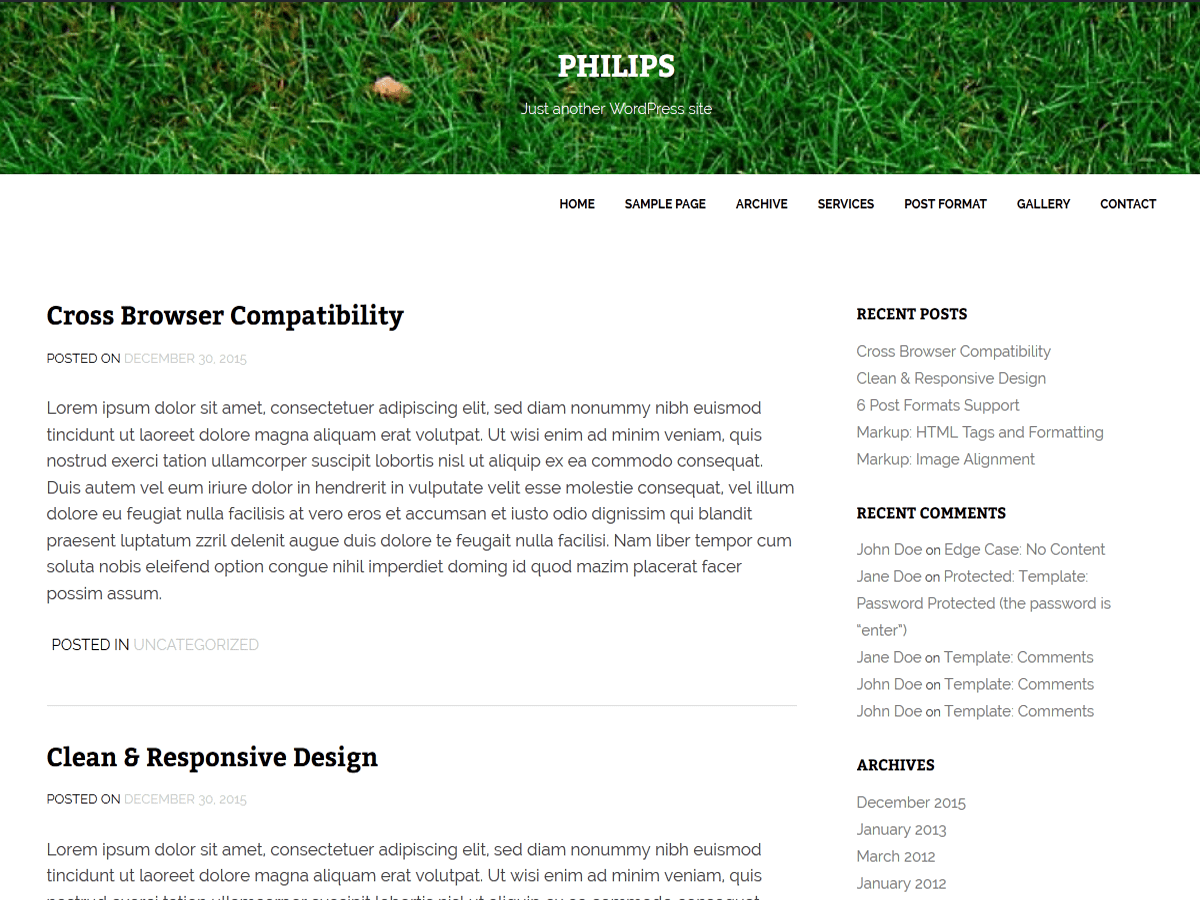 philips free wordpress theme