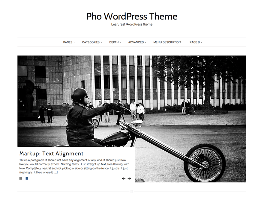 Pho free wordpress theme