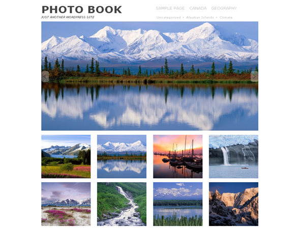 Photo Book free wordpress theme