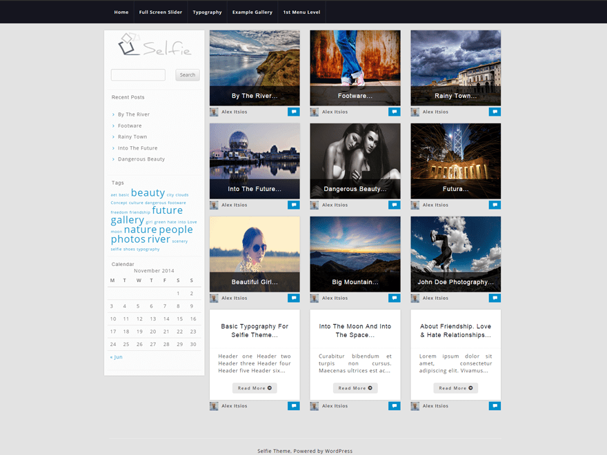 Photographer free wordpress theme