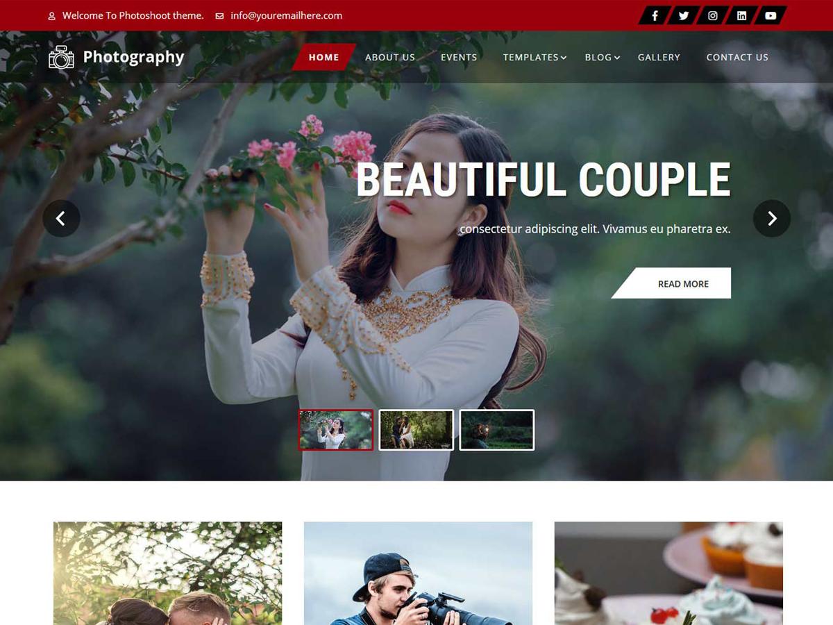 WordPress主题:Photoshoot Lite
