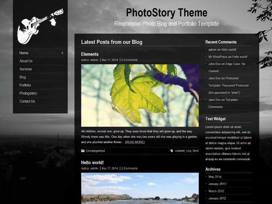 PhotoStory theme wordpress gratuit
