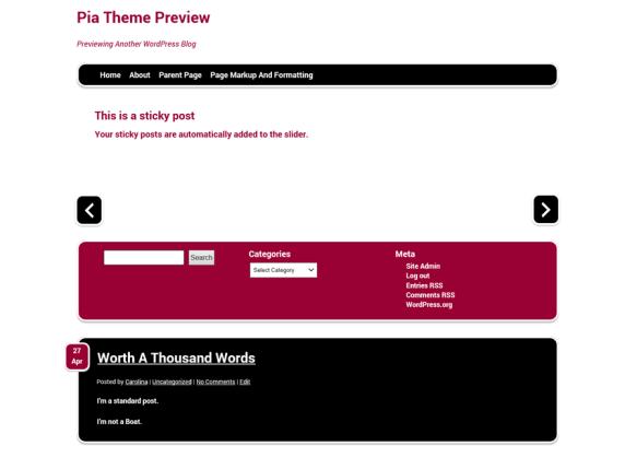 Pia wordpress theme
