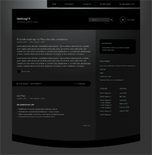 Piano Black free wordpress theme