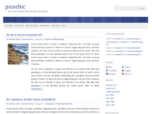 picochic free wordpress theme