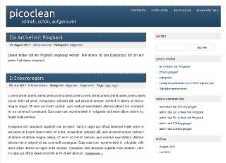 picoclean free wordpress theme