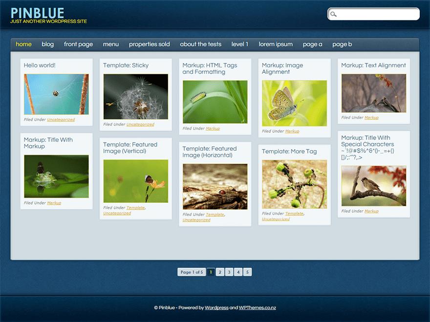 PinBlue free wordpress theme