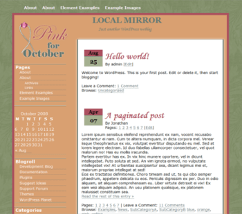 Pink 4 October wordpress theme