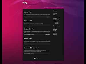 Pink and Purple wordpress theme