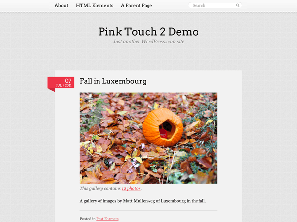 Pink Touch 2 free wordpress theme