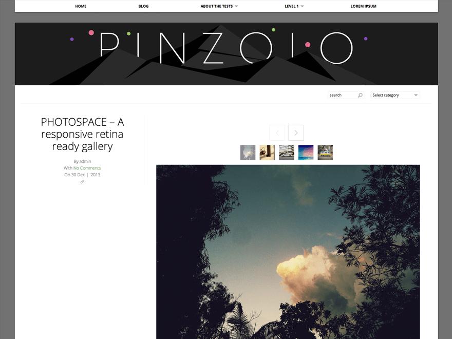 Pinzolo free wordpress theme