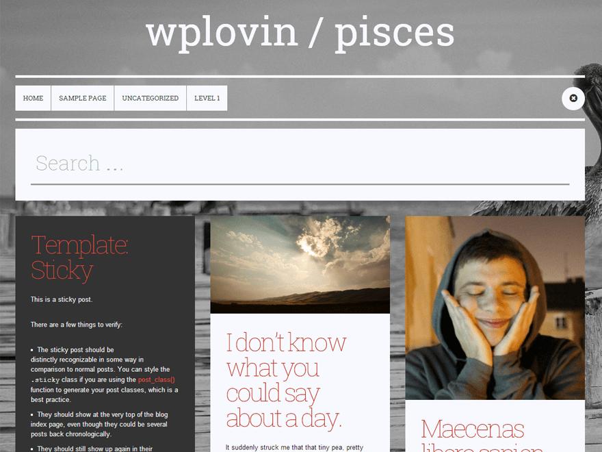 Pisces free wordpress theme