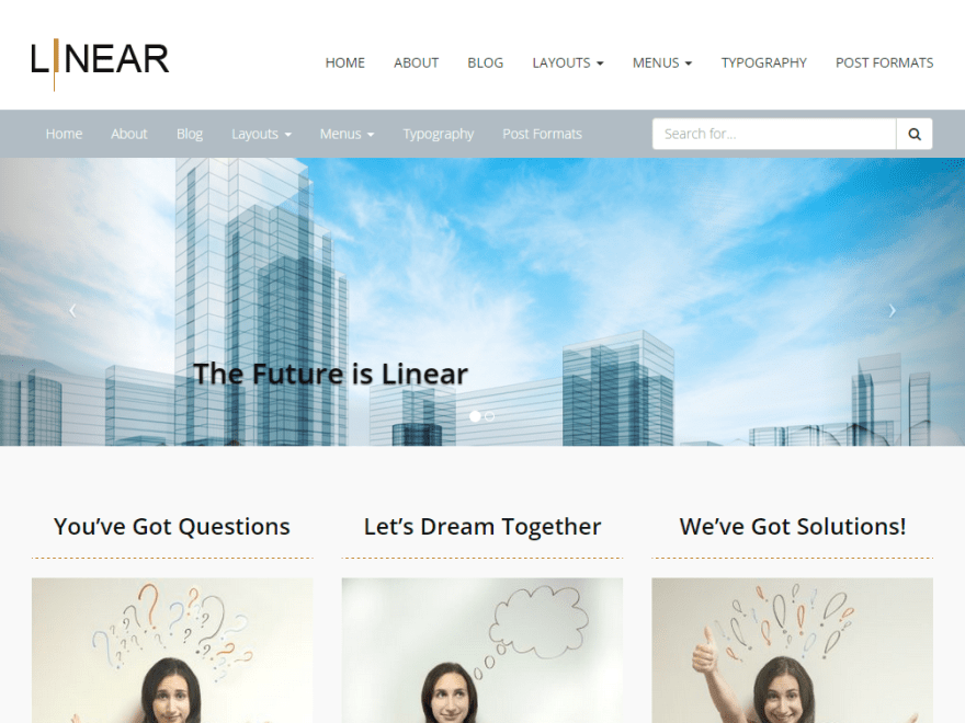Pixel-Linear free wordpress theme