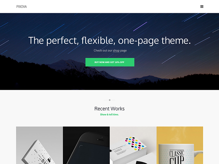 screenshot of pixova lite wordpress theme