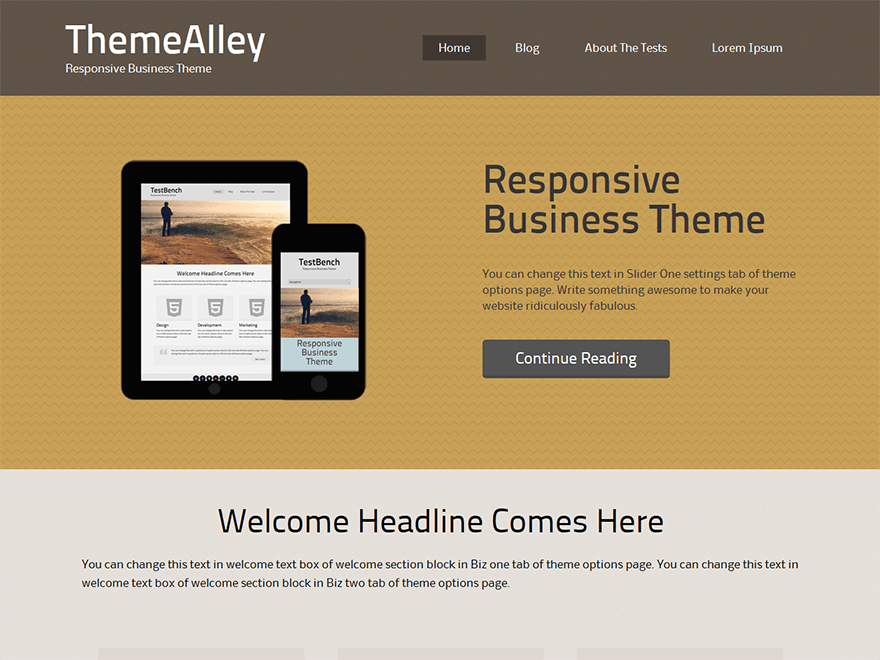 Planc free wordpress theme