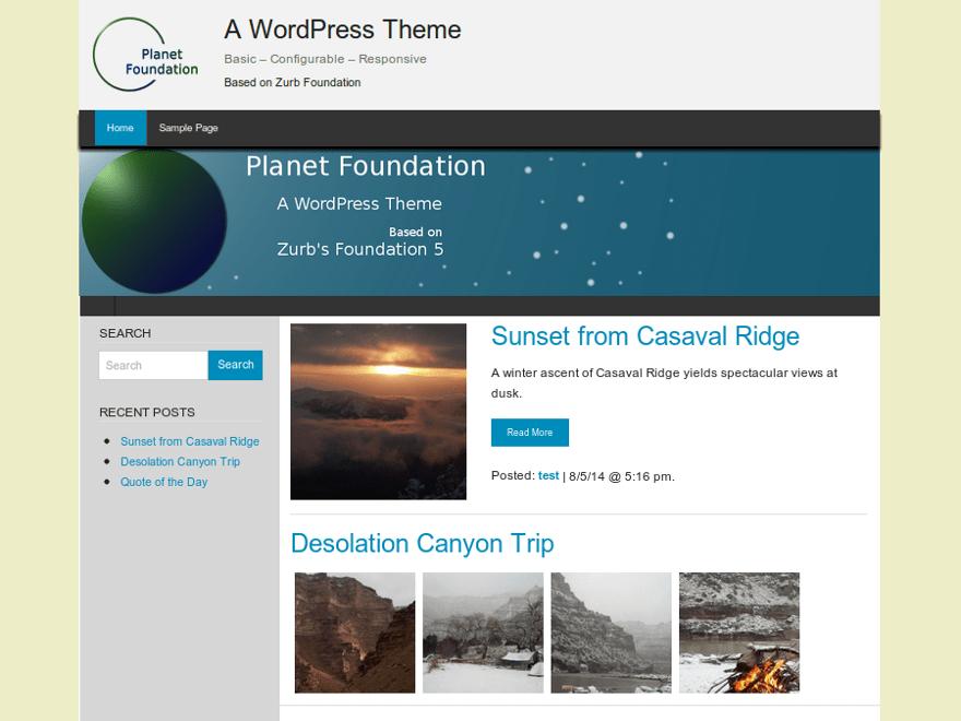 Planet Foundation free wordpress theme