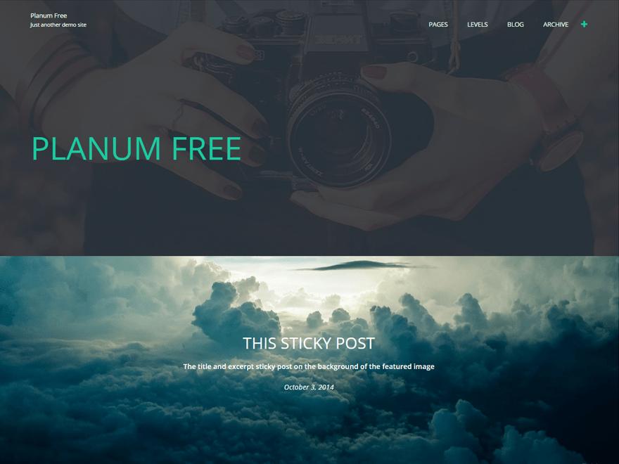 Planum free wordpress theme