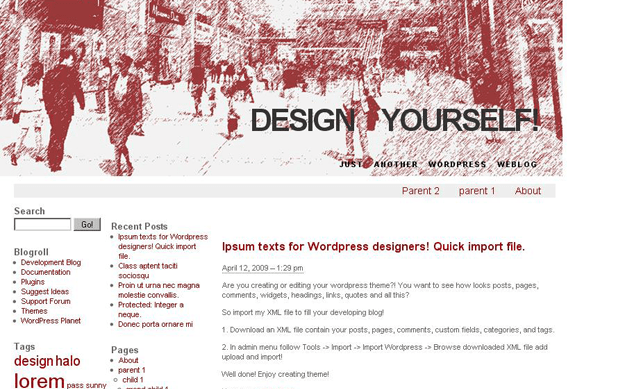 Plaza free wordpress theme