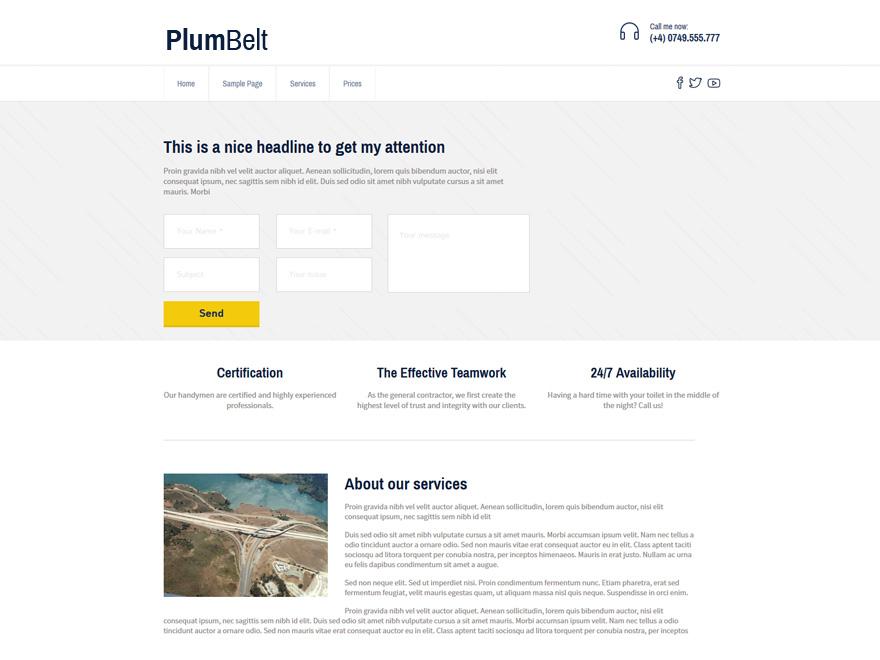 PlumBelt Lite theme wordpress gratuit