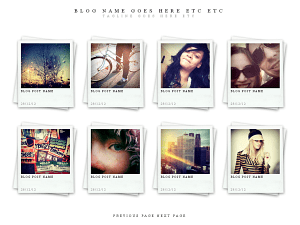 Polaroids wordpress theme