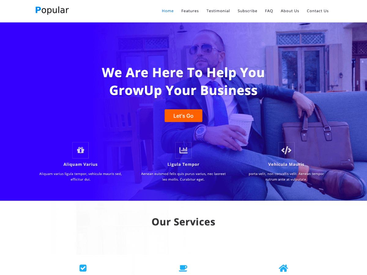 Popular Business - WordPress theme | WordPress.org