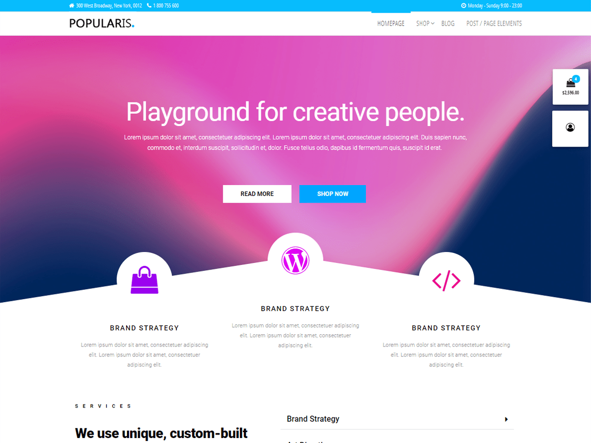 Popularis Hub Fast & Free WordPress Theme