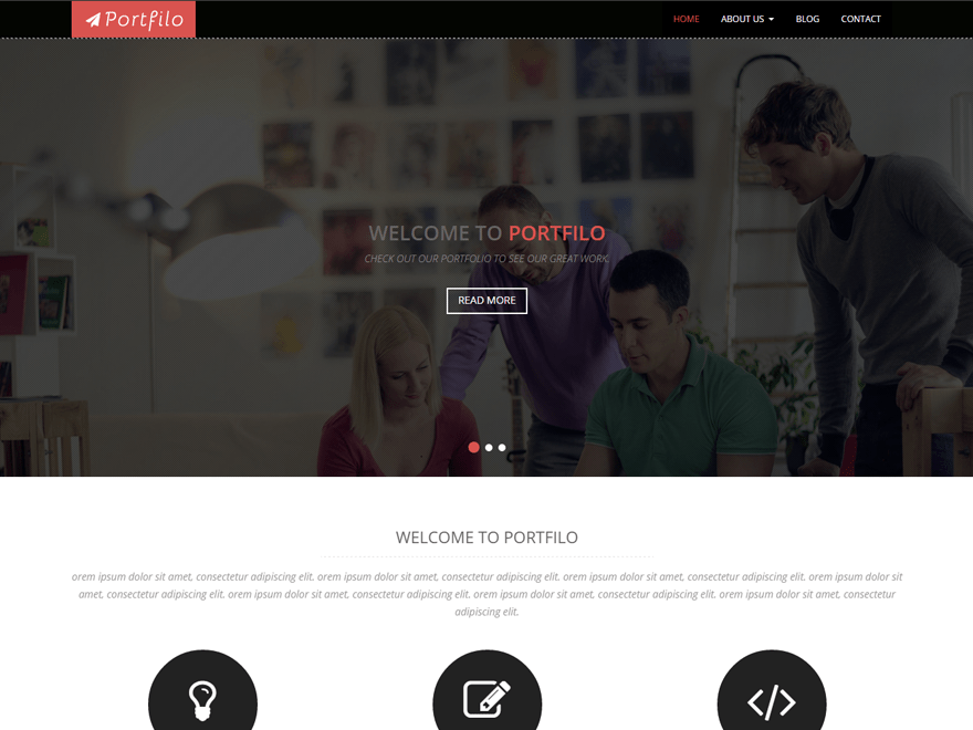 Portfilo free wordpress theme