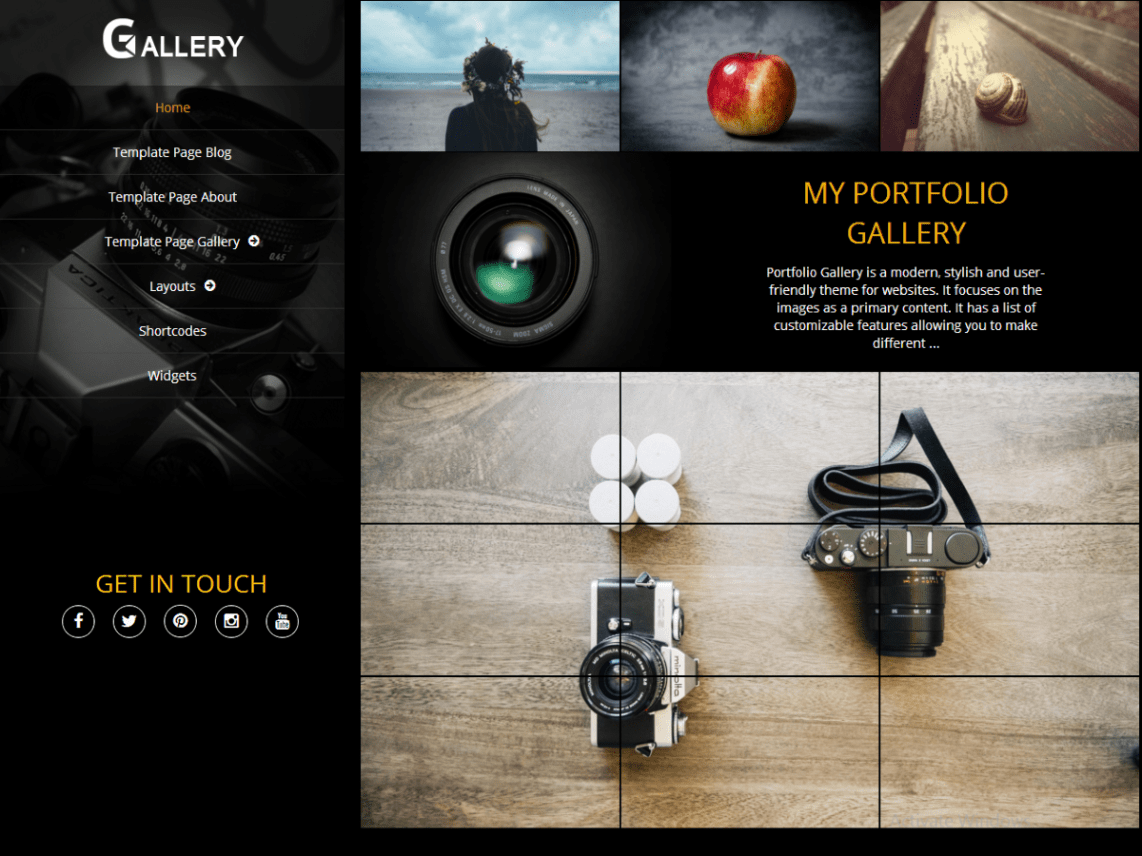 Portfolio Gallery Theme Free Download