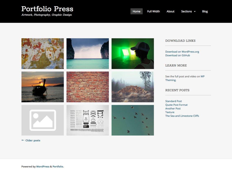 Portfolio Press Theme Free Download