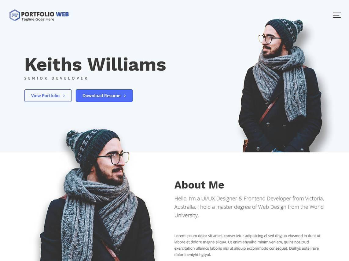 Portfolio Web - Free WordPress Theme