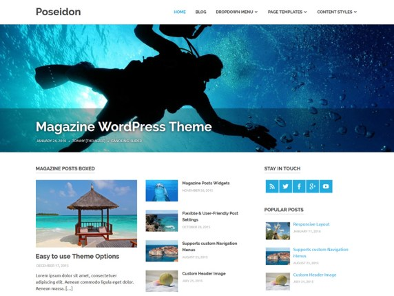 Poseidon wordpress theme
