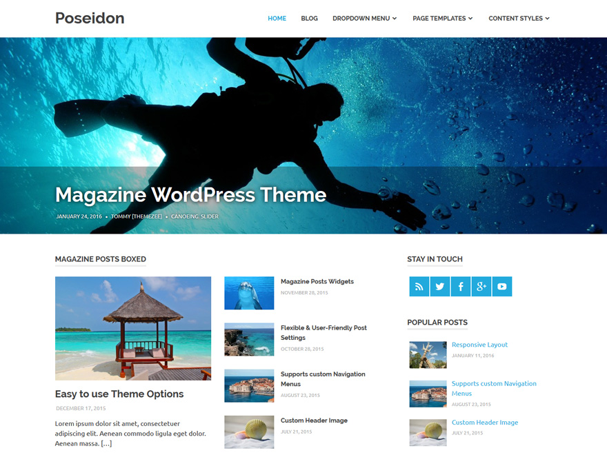 demo of Poseidon WordPress theme