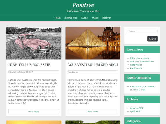 Positive Blog WordPressorg Beauteous Positive Blog
